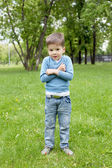 Portrait of a little boy outdoors — Stock Photo