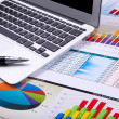 Graphs, charts, business table. — Stock Photo #6211861