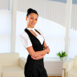 Young business woman in the office — Stock Photo