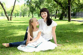 Mother with her daughter outside — Stock Photo