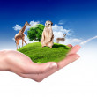 Green world and wildlife protected — Stock Photo