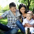 Family together in the summer park — Stock Photo #6247471