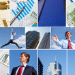 Business collage of some business pictures - Stock Photo