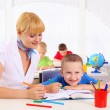 Teacher makes lessons — Stock Photo #6258304