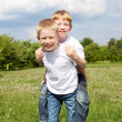 Two brothers outdoors — Stock Photo #6272952
