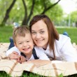 Mother with her son outside — Stock Photo