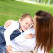 Mother with her son outside — Stock Photo #6293868