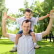 Stock Photo: Father with his son in the park