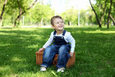 Portrait of a boy in the park — Stock Photo