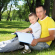 Father with his son in the par - Stock Photo