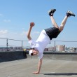 Street dancer outdoors — Stock Photo