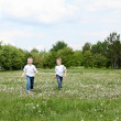 Two brothers outdoors — Stock Photo #6345862