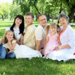 Stock Photo: Extended family together in the park