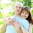 Young couple in the park — Stock Photo #6346615