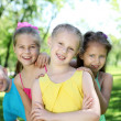 Children playing in the summer park — Stock Photo #6474024