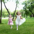 Two little sisters in the summer park — Stock Photo #6491675