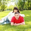 Young couple in park — Stock Photo #6492207