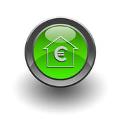 Button with currency symbols — Stock Photo