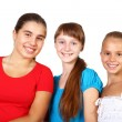 Three teenage girls together — Stock Photo #6552661