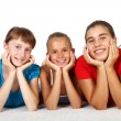 Three teenage girls together — Stock Photo