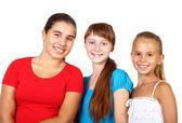 Three teenage girls together — Stock Photo