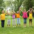 Group of children in the park — Stock Photo #6579299