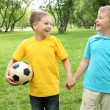Boys in the park with a ball — Stock Photo #6579585