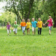 Group of children in the park — Stock Photo #6582411