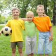 Three boys in the park - Foto Stock