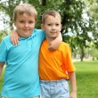 Two boys in the park — Stock Photo #6582653