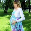Portrait of young pregnant woman — Foto Stock