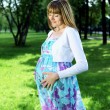Portrait of young pregnant woman — Stok fotoğraf