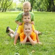 Group of children in the park - Stock Photo