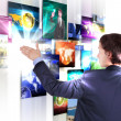 Man working with vurtial screens — Stock Photo #6582943