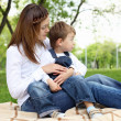 Mother with her son outside — Stock Photo #6600878