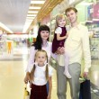 Young family doing shopping — Photo