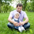 Portrait of father with daughter outdoor — Stock Photo #6619156