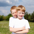 Two brothers outdoors — Stock Photo #6634705