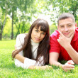 Young couple in park — Stock Photo #6643411