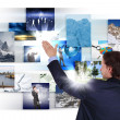 Man working with vurtial screens — Stock Photo #6706177
