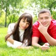 Young couple in park — Stock Photo #6706713