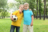 Two boys in the park — Stock Photo