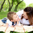 Mother with her son outside — Stock Photo #6730890