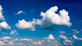 XXXL panorama of blue sky with clouds — Stock Photo
