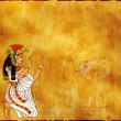 Wall with Egyptian goddess image - Isis — Stock Photo