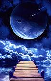 A beautiful space scene — Stock Photo