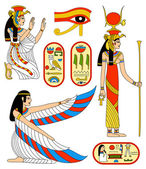 Egyptian goddess Isis — Vecteur