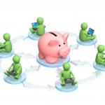 Virtual bank accounts — Stock Photo #5437308