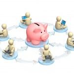virtuele bank accounts — Stockfoto