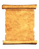 3d scroll of old parchment — Stock Photo